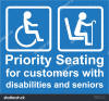 Image result for priority seating